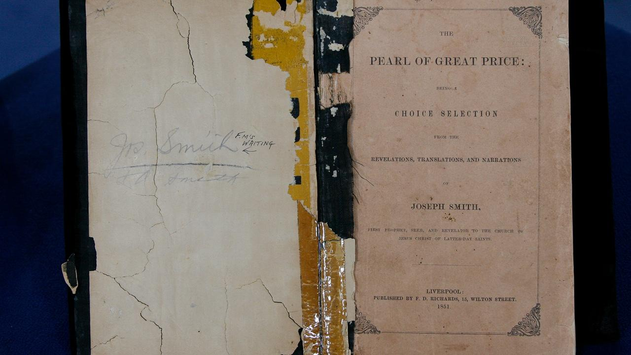 """Appraisal: 1851 """"Pearl of Great Price"""" Book"""