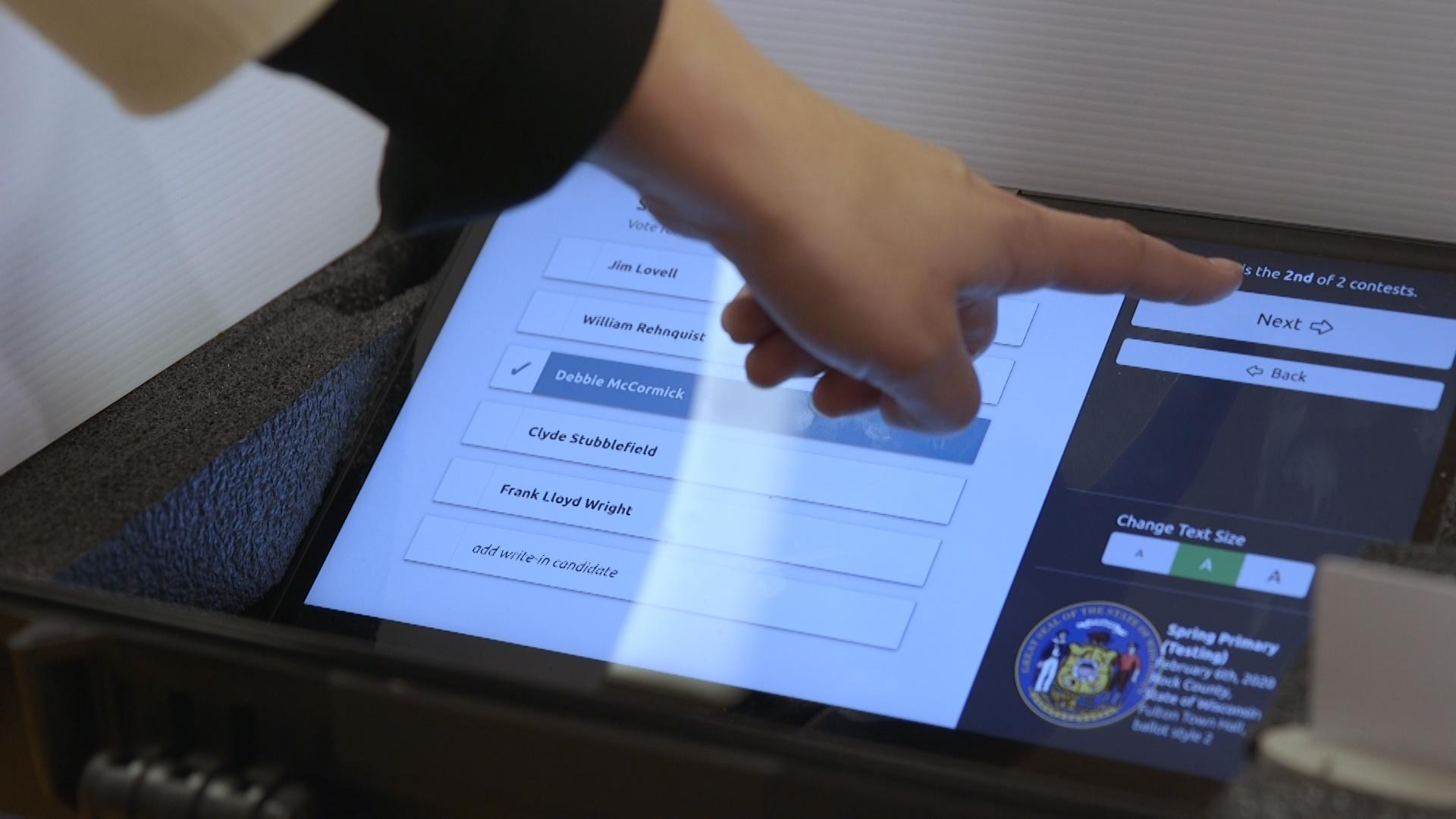 Microsoft Tests New Voting Software in Wisconsin