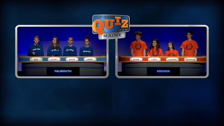 High School Quiz Show: Maine: Brewer vs. Falmouth - Episode 302