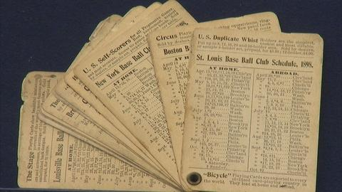 Antiques Roadshow -- Appraisal: 1898 National League Playing Card Schedules