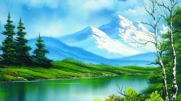 The Best of the Joy of Painting with Bob Ross: Lake at the Ridge