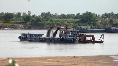 PBS NewsHour -- How sand mining is threatening Cambodia's Mekong River