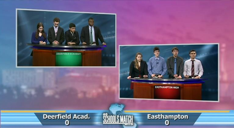 As Schools Match Wits: Championship: Deerfield Academy vs. Easthampton