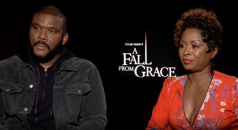 """Flicks: Tyler Perry & Crystal Fox for """"A Fall From Grace"""""""