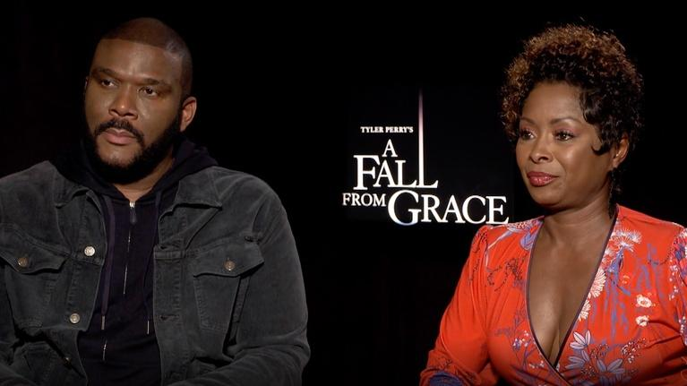 "Flicks: Tyler Perry & Crystal Fox for ""A Fall From Grace"""