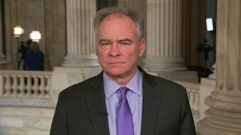 """Amanpour and Company -- Sen. Tim Kaine: Evidence of Imminent Threat """"Underwhelming"""""""