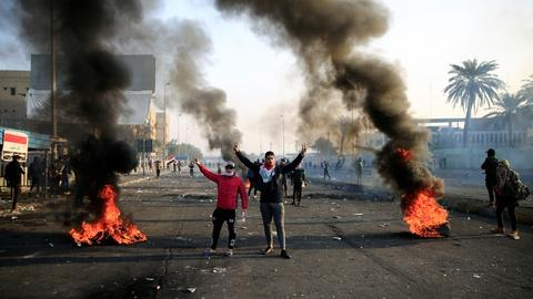 PBS NewsHour -- News Wrap: 3 dead, dozens injured in Baghdad protests