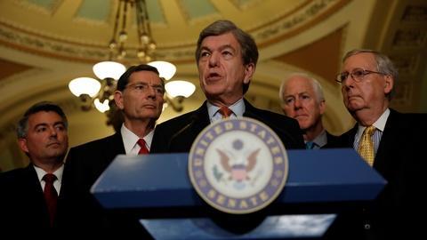 PBS NewsHour -- Sen. Blunt: Hard to get 50 senators to pass health bill