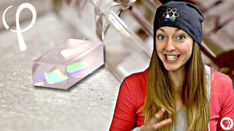 Physics Girl -- This crystal can split light particles