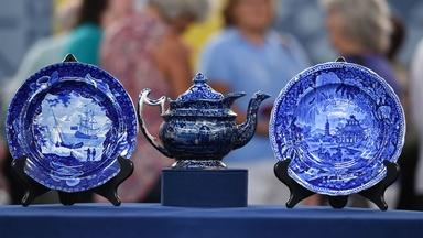 Appraisal: Staffordshire Plates & Teapot, ca. 1830