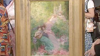 Appraisal: Henry Siddons Mowbray Painting, ca. 1895
