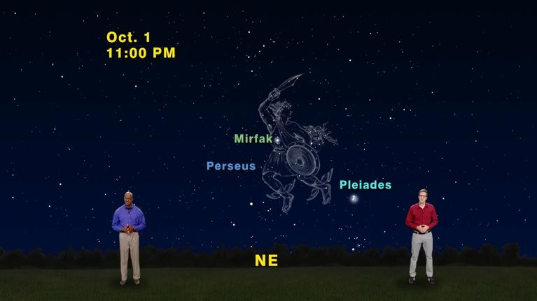 "Star Gazers: ""Perseus and the Seven Sisters"" Sept 25th-Oct 2nd 1 Min"
