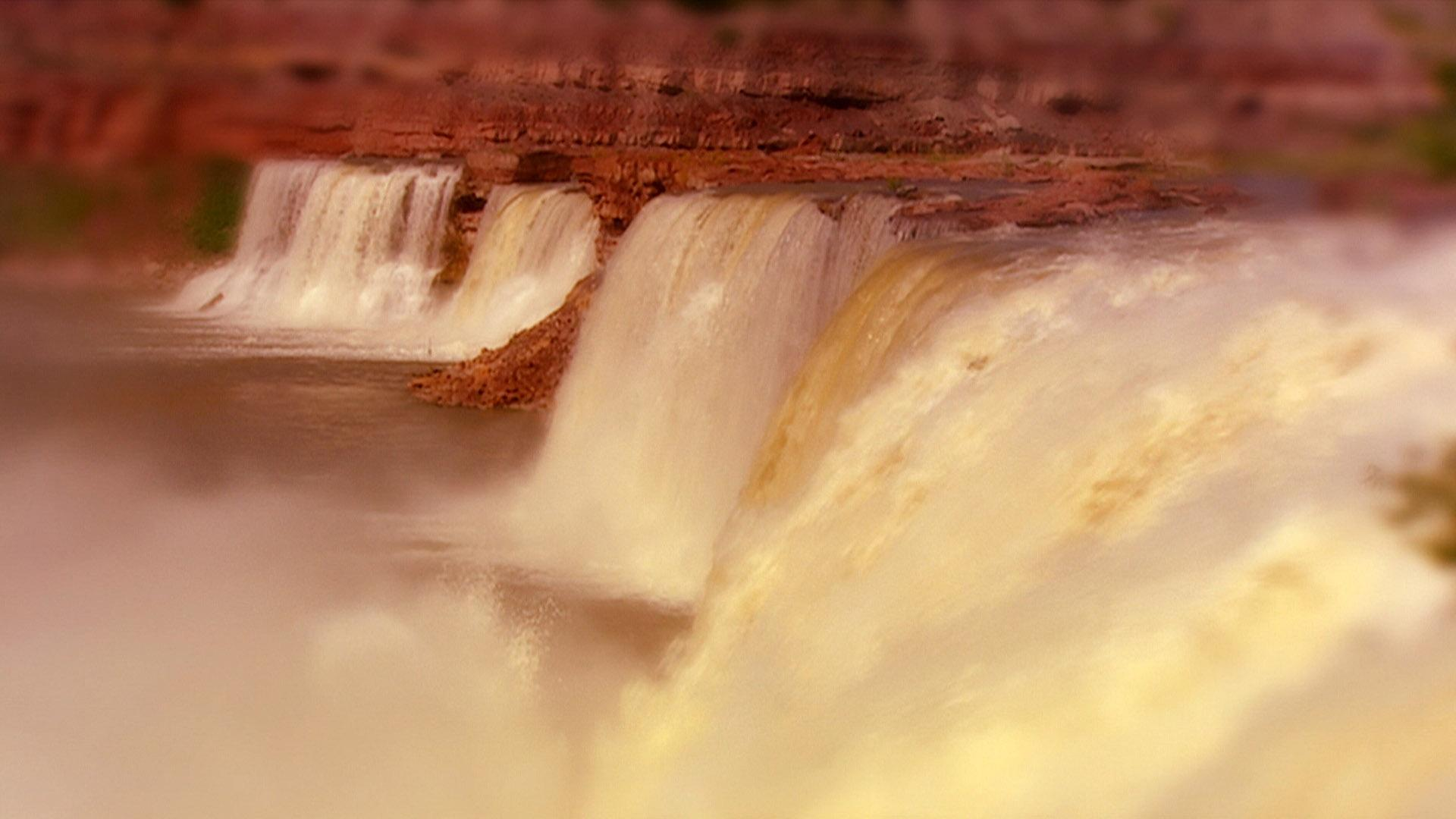 The great falls of the Missouri (Journals of Lewi