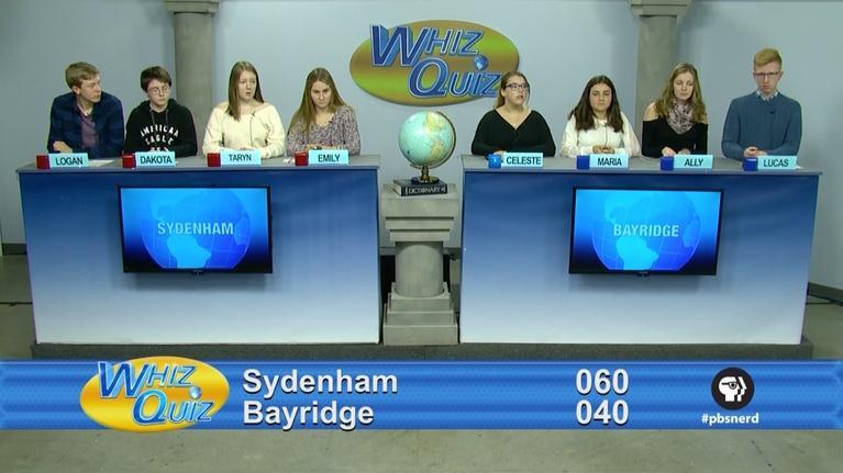 Whiz Quiz: Canadian Final Sydenham vs. Bayridge 2017