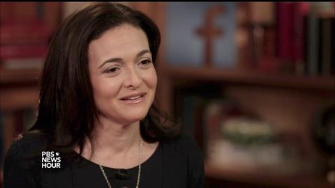 PBS NewsHour -- Sheryl Sandberg on grief, silence and 'Option B'