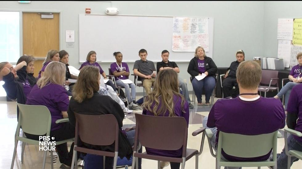 Innovative high school helps students battling addictions image
