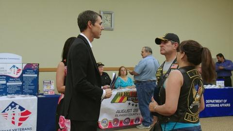 Beto O'Rourke Hosts a Town Hall for Veterans