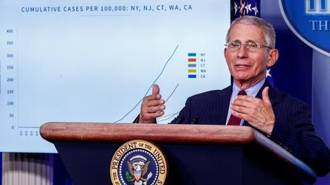 Fauci on face masks and staying home as virus spreads