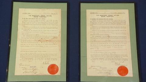 Antiques Roadshow -- Appraisal: 1903 & 1905 Muskogee Creek Nation Allotment Deeds