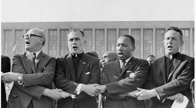 PBS NewsHour: Following Father Theodore Hesburgh through Civil Rights era