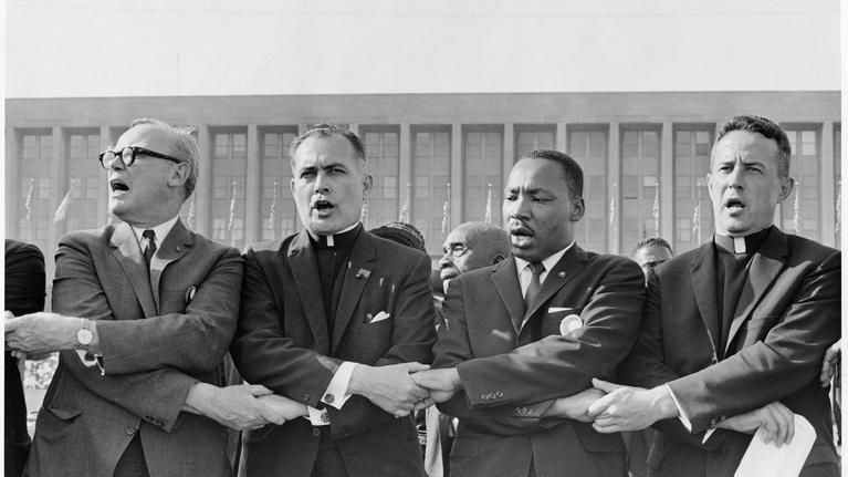 PBS NewsHour: Following Father Theodore Hesburgh through Civil Rights era