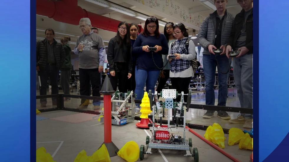 Von Steuben Robotics Team Leads the Way for Girls in Science image