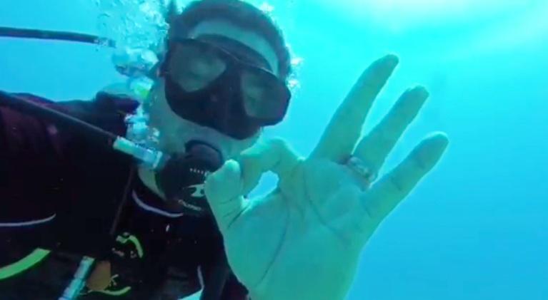 Chefs off the Clock: Carlos Gaytan: Scuba Diver