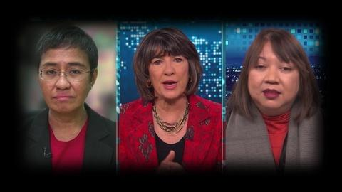 FRONTLINE -- Maria Ressa and Ramona Diaz on Amanpour and Company