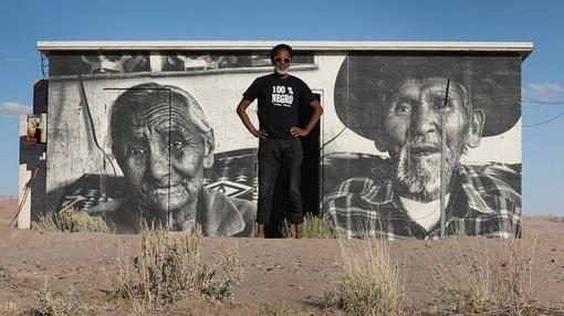 PBS NewsHour : Street artist portrays Navajo life with large scale murals