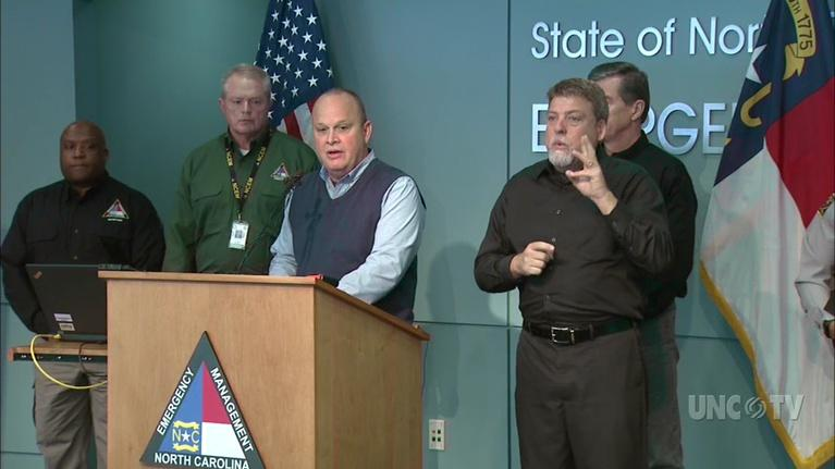 NC Emergency Management and Weather: NC Gov. R. Cooper: Snow Briefing: 11 AM 12/09/18