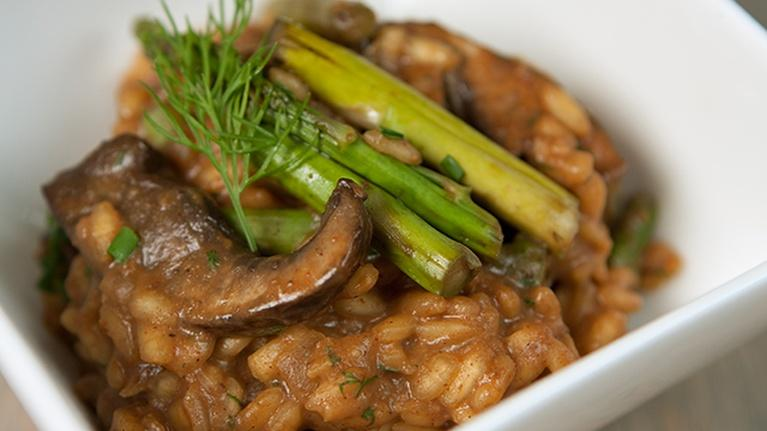 KCTS 9 Cooks: Portobello Stroganoff Risotto