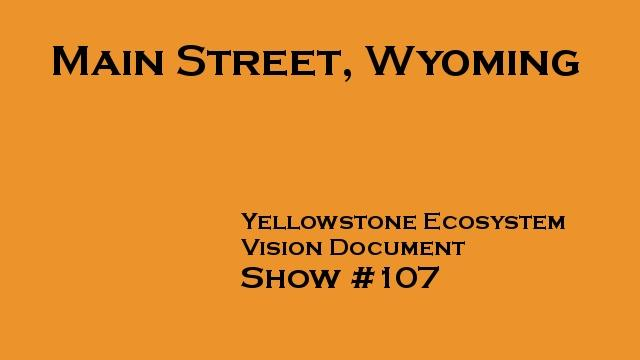 Yellowstone Ecosystem, Main Street, Wyoming #107