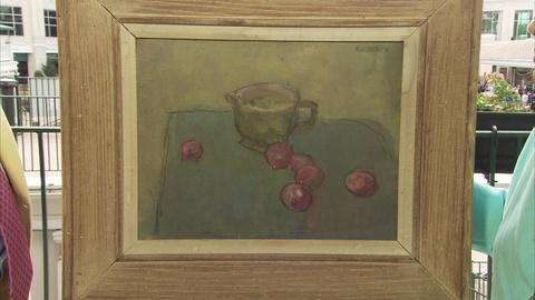 Antiques Roadshow -- Appraisal: Earl Kerkam Oil Painting with Crayon, ca. 1950