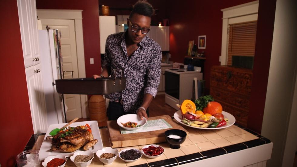 Cook It At Home: Gregory Gourdet's Spice-Roasted Chicken image