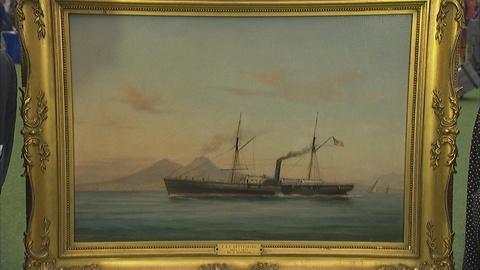 "Antiques Roadshow -- Appraisal: 1875 Tommaso De Simone ""The USS Gettysburg"" Oil"