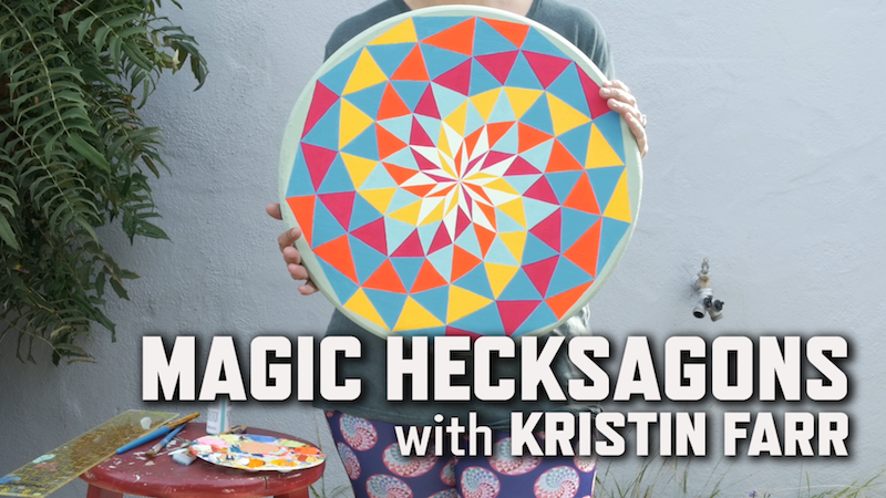 Image result for painting magic hexagons kristin farr