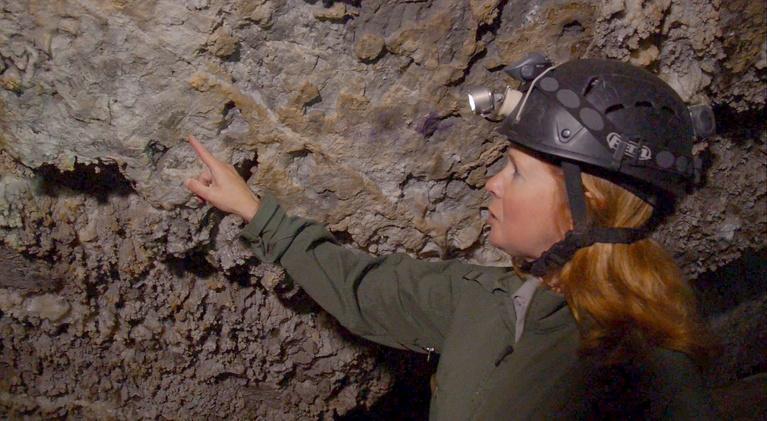 Utah Places: Timpanogos Cave Wall Writings