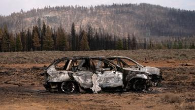 Extreme U.S. West wildfires creating lightning, fire whirls