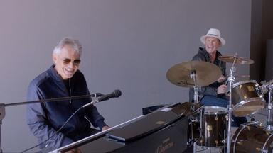 Andrea Bocelli and Chad Smith Jam
