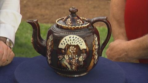 Antiques Roadshow -- Appraisal: 1879 Bargeware Teapot