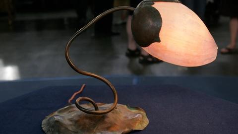Appraisal: Elizabeth Eaton Burton Lamp, ca. 1910