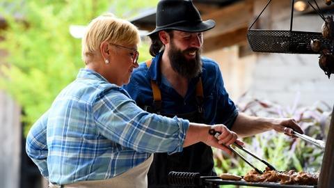 Lidia Celebrates America -- Mushrooms on the Mother Fire