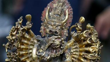 Appraisal: 18th C. Sino-Tibetan Gilt Bronze Deity