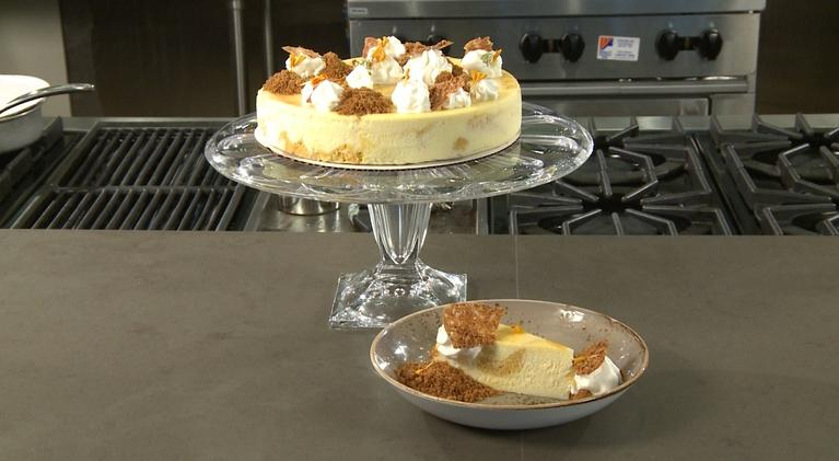 Charlotte Cooks: Marbled Spiced Butternut Squash White Chocolate Cheesecake