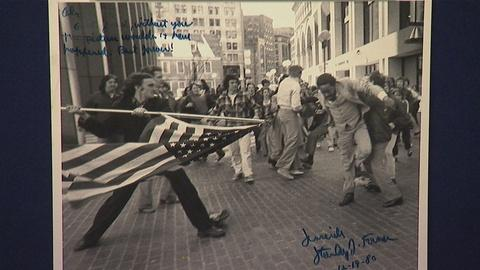 """Antiques Roadshow -- Appraisal: 1976 S. Forman-signed """"Soiling of Old Glory"""""""