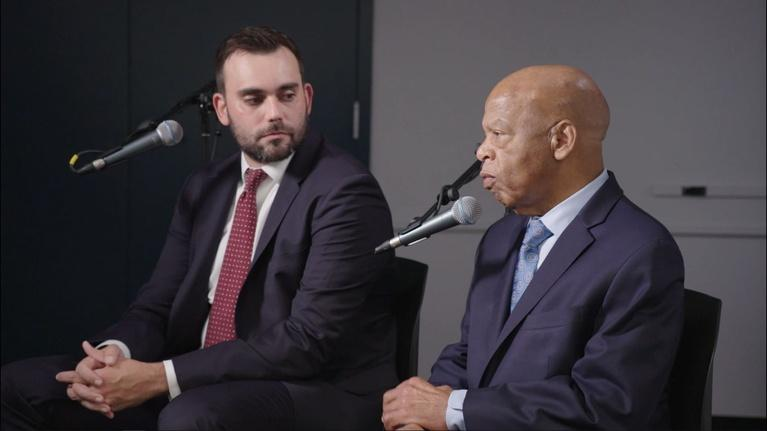 Vermont PBS Specials: VPR interview with John Lewis and Andrew Aydin