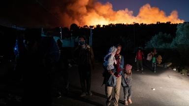 Fire is latest crisis to befall Greek refugee camp residents