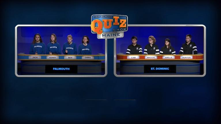 High School Quiz Show: Maine: St. Dominic vs. Falmouth - Episode 213