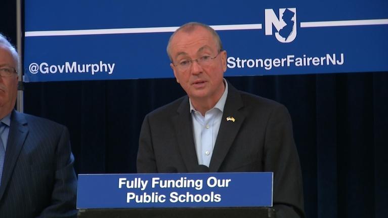 NJTV News: Murphy says full school aid lowers property taxes