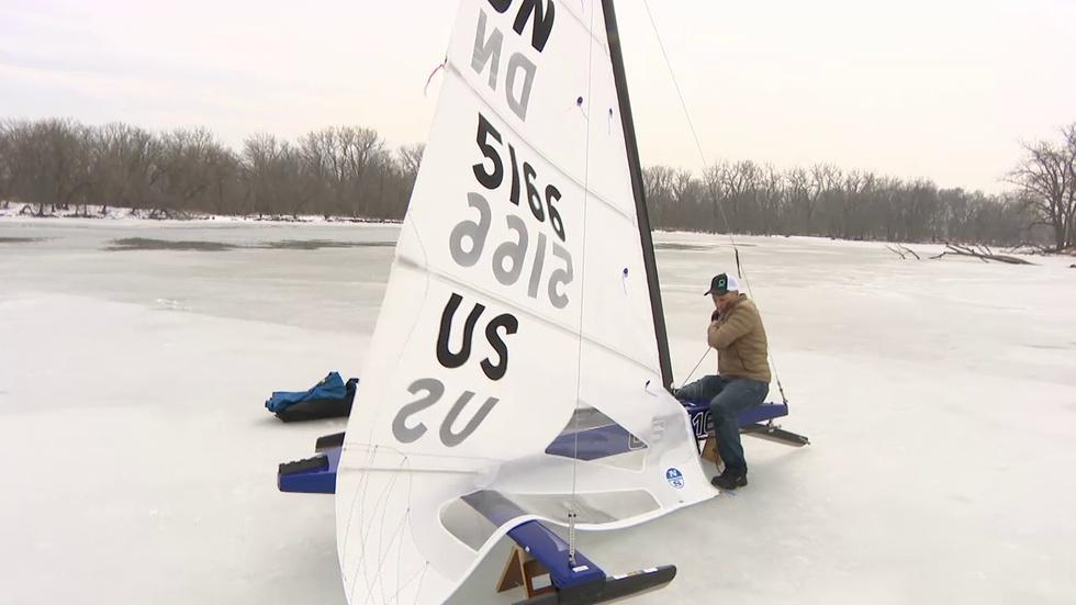 Man's Passion for 'Hard Water Sailing' Easy to Fathom image